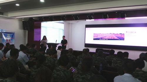 张朋义董事长带领学员参观讲解方山有机苹果示范园